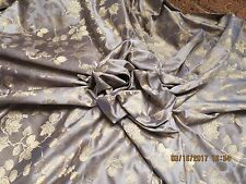 "Stunning Silk Damask Blue Fabric Antique French German Doll Dress 23-"" 27-1/2"""
