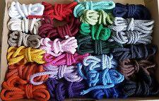 25 x 2 Meter Baumwollkordel 5mm Kordel Schnur Baumwolle Mix 25 Farben