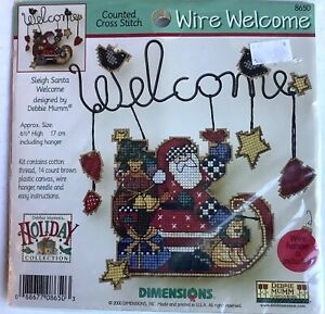 Dimensions Debbie Mumm Christmas Sleigh SantaWelcome Cross Stitch Kit