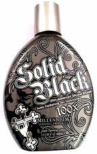 SOLID BLACK 100X Bronzer Indoor & Outdoor Dark Tanning Bed Lotion By Millennium