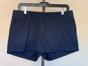 NWT New Womens J. Crew Chino Navy Shorts sz 6 Cotton