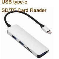 USB C Hub type c to USB 3.0 Hub SD/TF Card Reader Adapter for Macbook Samsung S8