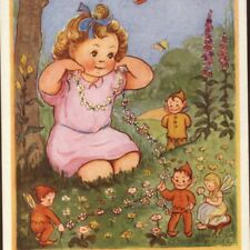 Mint.! Fairy,Brownie,Weave Daisy Necklace For Girl,Phyllis Purser,Old Postcard