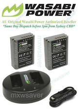 Wasabi Power Battery (2-Pack) and Dual USB Slot Charger for Olympus BLN-1, BCN-1