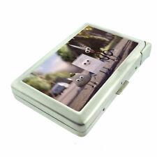 Rock Paper Scissors Em1 Cigarette Case with Built in Lighter Metal Wallet