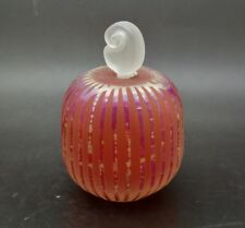 "SAC 1987 IRIDESCENT Pink Art Glass Paperweight/Perfume Bottle,Apr 3.75""Hx2.5""W"