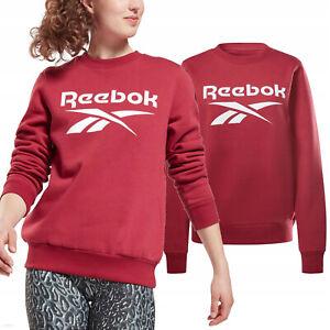 Reebok Femme Sweat Identité Logo Manche Longue Polaire Ras Vêtements GS9380 Neuf