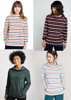 Seasalt Cowl neck Cotton Sweatshirt Jumper Sweater Tunic Top 10 12 14 16 18 20