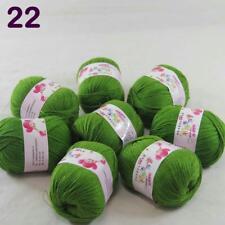 C New Fashion 8Skein x50g Cashmere Silk Wool Hand knitwear knitting Baby Yarn 22