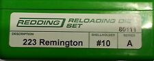 80111 REDDING 223 REMINGTON 2 DIE SET - BRAND NEW - FREE SHIPPING