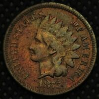 1875 Indian Head Cent with nice detail!