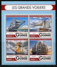 GUINEA 2016 GREAT SAILING SHIPS  SIMON BOLIVAR, ETOILE de FRANCE  SHEET MINT NH