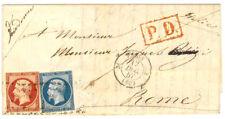 France cover 1857 Paris - Roma (IT) - RARE LARGE DOTS CANCEL - XF