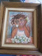 Original Framed CUBAN ART by MANOLO RODRIGUEZ  Afro ARTE CUBANO