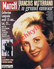 Paris Match n°2449 du 02/05/1996 Catherine Langeais Jacquemart-André Dick Rivers