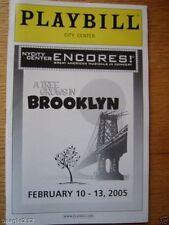 A Tree Grows in Brooklyn Playbill 2005 Jason Danieley Sally Murphy Emily Skinner