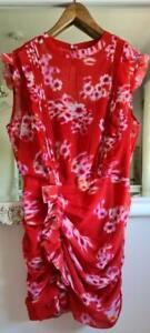 AllSaints Hali Jasmine Floral Mini Dress Red  Size UK 10 BNWT £188
