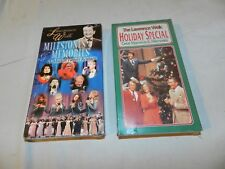 NEW in Package Lawrence Welk VHS Lot of 2 Holiday Special Milestones & Memories