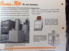 1965 PERMA-TOP Incinerators Fly Ash Chambers Of Johns MANVILLE TRANSITE Catalog