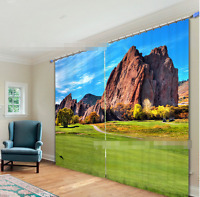 3D Stone Mountains Blockout Photo Curtain Printing Curtains Drapes Fabric Window
