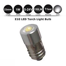 1x1W LED Torch lamp 5/6.3/9/14/18V D/C AA Cell MES E10 Miniature Flashlight Bulb