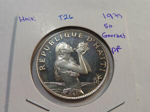 T26 Haiti 1973 50 Gourdes PROOF