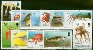 Falkland Islands 1994 Marine Life Set of 12 SG701-712 V.F.U