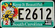"SOUTH CAROLINA "" KEEP IT BEAUTIFUL - FLOWER "" SC Specialty License Plate"