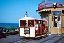 PHOTO  1961 THE QUEENS PIER TRAM RAMSEY IN 1961 THE ADULT SINGLE FARE WAS ONLY 2