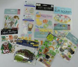 Easter  St. Patricks Day Scrapbook Sticker Lot Embellishments Jolee's Bourtique