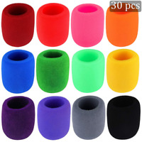 30 Pack Thick Handheld Stage Microphone Windscreen Foam Cover Karaoke (12 Color)