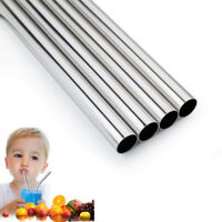 Reusable Drinking Straw Stainless Steel Metal Wide Straws for Smoothies Drink