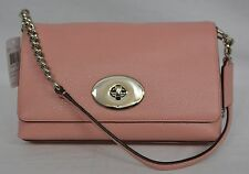 NWT! Coach Crosstown Crossbody In Polished Pebble Leather in Blush Pink #53083