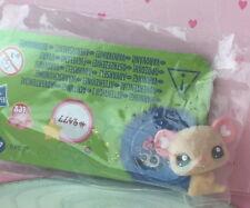 ~❤️~Littlest Pet Shop #2477 Fuzzy Fluffy BABY MOUSE heart ears~❤️