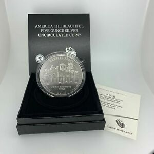 2016-P 25c ATB Harpers Ferry National Park 5oz .999 Silver Coin - Free Ship US