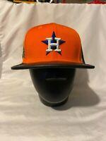Pro standard  100% authentic strapback hat Houston astros orange leather visor