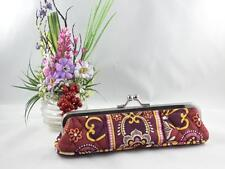 Vera Bradley Kisslock Slim Case Coin Glasses Retired Purple Flowers **
