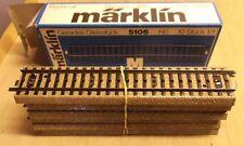 Märklin H0 5106 10 X Voie Droite 180 Mm Bon Propre État en Emballage D'Origine