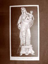 La Vergine col Bambino Statua di Agostino Busti Stampa dle 1891