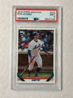 PETE ALONSO 2019 Topps Archives BASE RC #222! PSA MINT 9! QTY AVAILABLE!! METS!