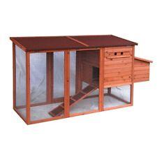 ALEKO Pet Chicken Coop Poultry Wooden Hutch Chicken Hen House 78x30x40