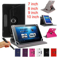 """360 Folio PU LEATHER STAND CASE COVER FOR 7""""  8"""" 9"""" 10""""TABLET ANDROID CASE COVER"""