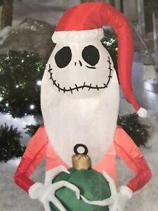 Disney Tim Burton Nightmare Jack Skellington Santa LED Christmas Inflatable 4ft