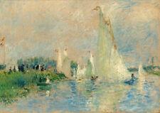 Regatta at Argenteuil by Pierre-Auguste Renoir 60cm x 42cm Art Paper Print