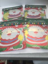 """4 Merry Christmas Decoration Hologram 8"""" x 10' Hanging Banners"""