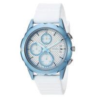 Fossil Unisex  Analog Watch Casual Weiß Band ES4222 Armbanduhr Neu mit Garantie
