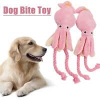 Cute Squid Dog Toy Octopus Cute BB Plush Pet Puppy Rope Squeak Chew Toys E2O6