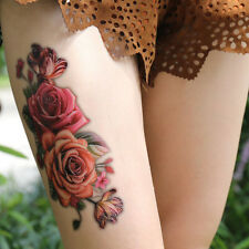 Fashion Fake Temporary Tattoo Sticker Rose Flower Arm Body Waterproof WomenV#a