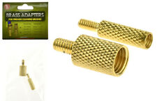 2 Pc Brass Cleaning Rod Adapter For Firearm Cleaning Brushes Gun Accessories