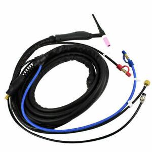 Torcia saldatura Tig WP18 da 8m, spina DX 50 - 1/4G + attacchi rapidi per acqua